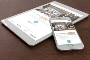 Mobile Webseite Hochzeits-Träume