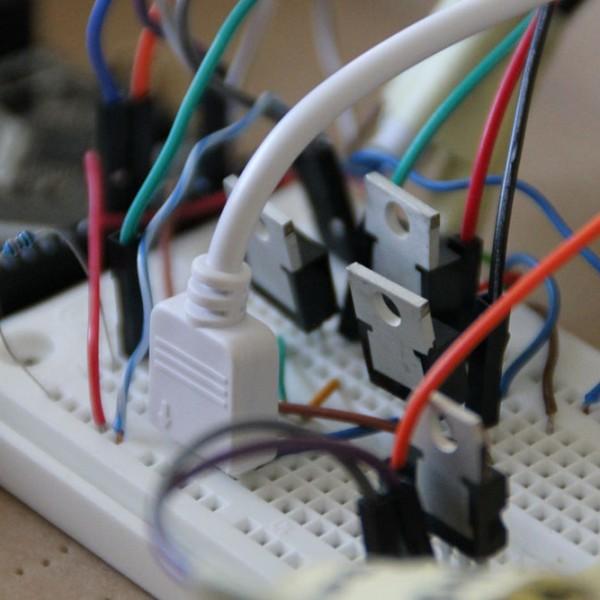 Prototyp der elektrischen Schaltung